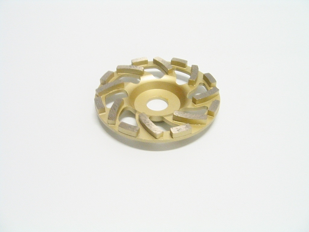 Diamant-Schleiftopf 125 mm gold, NEW FAN Cup